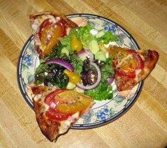 Salad with Pizza Bites